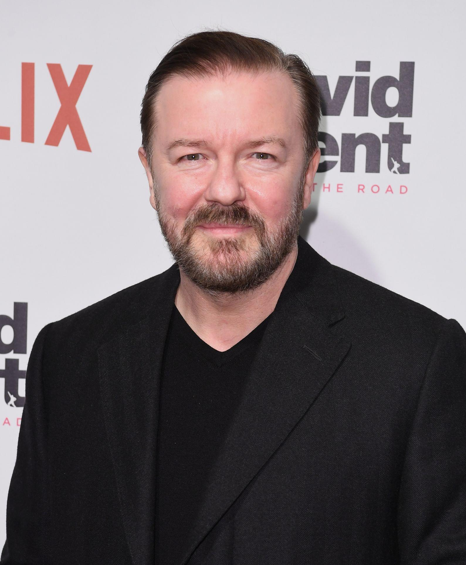 Ricky Gervais brings up Jeffrey Epstein in Golden Globes monologue