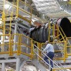 NASA chief gets latest look at new moon rocket