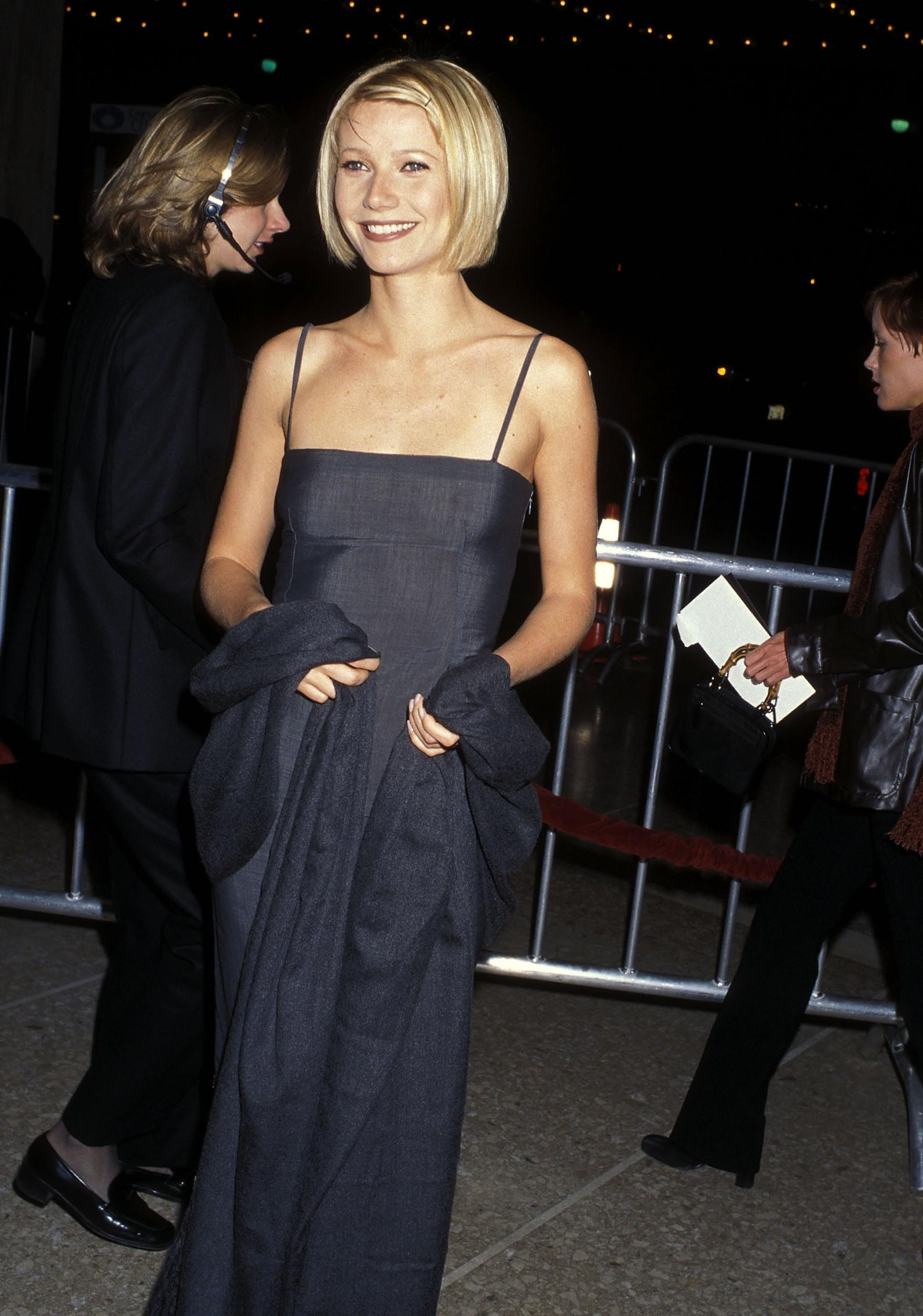 Actress Gwyneth Paltrow attends the 'Great Expectations' Century City Premiere on January 20, 1998 at Cineplex Odeon Century Plaza Cinemas in Century City, California. (Photo by Ron Galella, Ltd./WireImage)