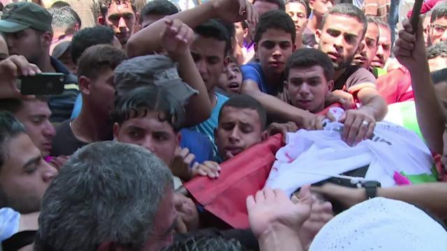 Gaza buries five Palestinians killed by Israeli air strike