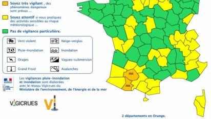 Deux départements du sud-ouest en vigilance orange aux inondations