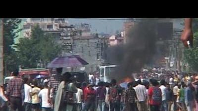 Violent clashes erupt in Nepal