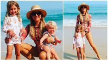 Carrie Bickmore hits the beach with her kids before returning to The Project