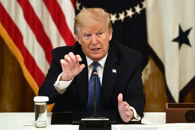 President Donald Trump said his administration would seek action against social media firms for what he called bias, although legal experts question any authority to shut down private platforms (AFP Photo/Brendan Smialowski)