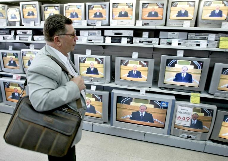 Don't watch this space: TV doesn't talk about the hoaxes much (AFP Photo/MLADEN ANTONOV)