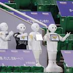 Softbank's baseball team in Japan replaced fans with robots in the stands as the season starts without crowds