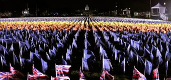 Inauguration marked by stunning 'Field of Flags'
