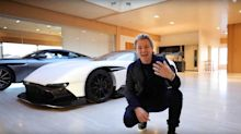 Watch Nico Rosberg customise an Aston Martin Valkyrie