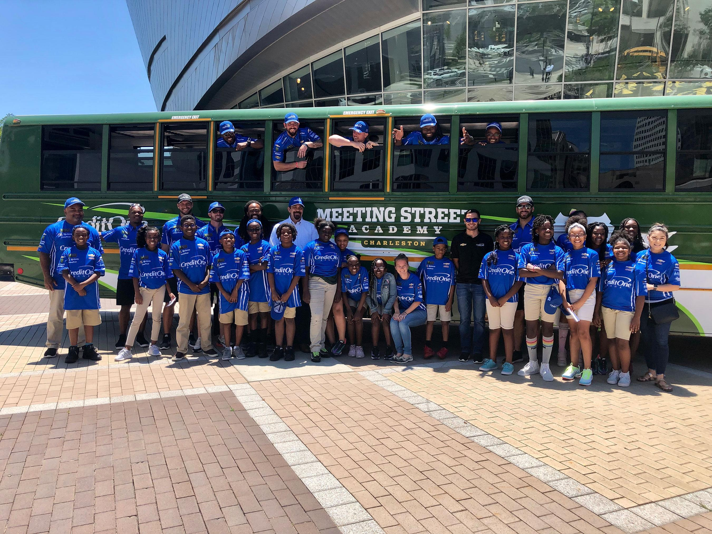 Credit One Bank® and NASCAR Driver Kyle Larson Surprised Meeting Street Academy Students With Field Trip And Custom-Designed Bus