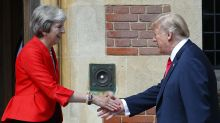The internet pleads with Theresa May to have a 'Love Actually moment' with Trump