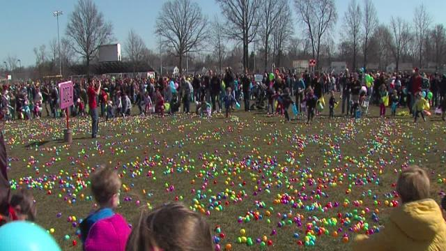 Easter egg hunt in Fairview Park