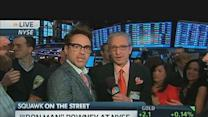 'Iron Man' Downey Rings NYSE Opening Bell