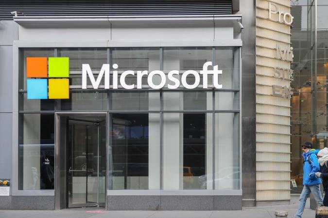 Microsoft store in midtown Manhattan.