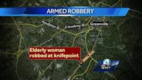 Elderly woman robbed at knifepoint in Greenville