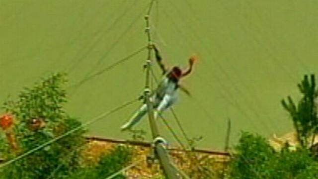 Chinese Tightrope Walker Falls Off Wire