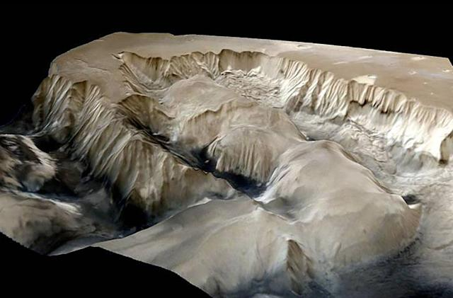 Indian probe captures 3D image of vast Mars canyon