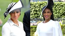 Ciara is giving major Meghan Markle vibes in black-and-white Royal Ascot outfit