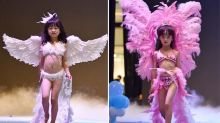 Little girls model lingerie in Victoria's Secret-style show