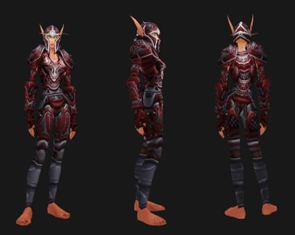 Outland reputation set - Paladin (Holy): Crusader's Ornamented Battlegear