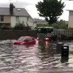 Vehicles submerged in water as flash floods cause chaos across Scotland