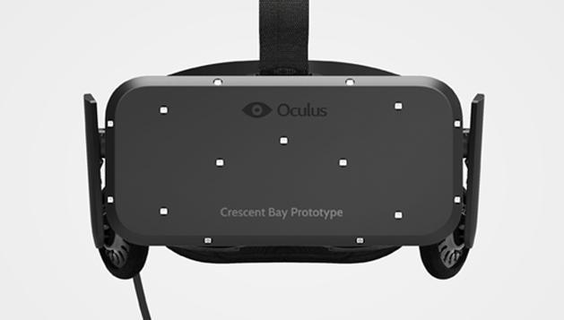 The new Oculus Rift headset is Crescent Bay and has built-in audio