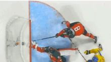 Watch: Defenceman Fabbro helps make goal line save for Canada