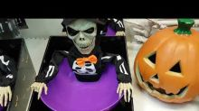 Guy Has Great Fun With Spooky Halloween Candy Bowl