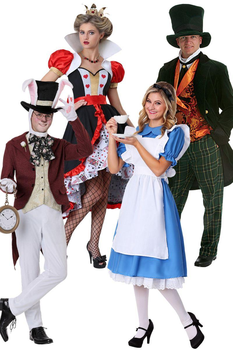 """<p>$20+</p><p><a class=""""link rapid-noclick-resp"""" href=""""https://go.redirectingat.com?id=74968X1596630&url=https%3A%2F%2Fwww.halloweencostumes.com%2Fadult-alice-in-wonderland-costumes.html&sref=http%3A%2F%2Fwww.womansday.com%2Flife%2Fg3083%2Fbest-group-halloween-costumes%2F"""" rel=""""nofollow noopener"""" target=""""_blank"""" data-ylk=""""slk:Shop Now"""">Shop Now</a></p><p>After suiting up, jump feet first down the rabbit hole for a night full of haunting fun. </p>"""