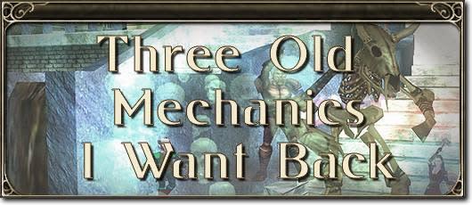 MMO Mechanics: Three old mechanics I want back