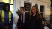 Cameraman falls over while filming Hugh Grant at pre-Bafta Awards party