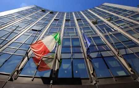 The headquarters of Italian defence and aerospace company Finmeccanica is seen in Rome