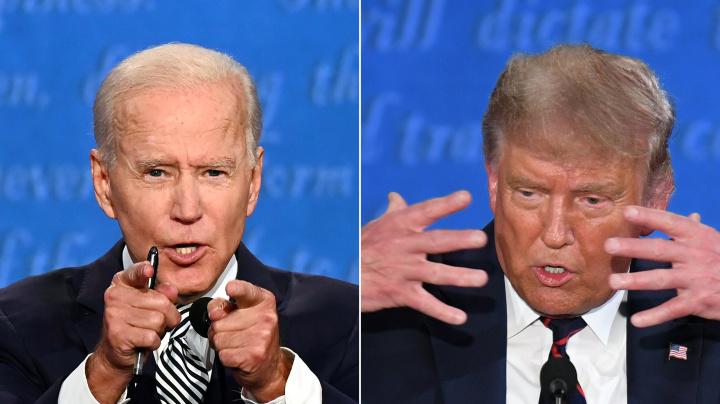 Biden, Trump tussle as U.S. presidential debate turns ugly