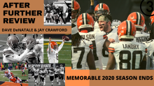 WATCH LIVE | Dave 'Dino' DeNatale and Jay Crawford recap Cleveland Browns playoff loss and look back at memorable 2020 season on After Further Review
