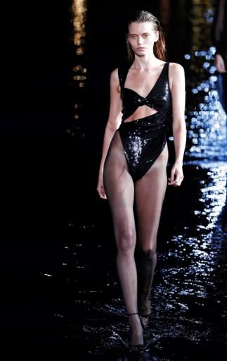 Saint Laurent Walks On Water At Paris Fashion Week
