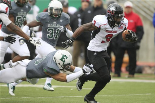 No. 24 N Illinois rolls to 49-7 win against EMU