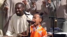 "Kanye West Drops ""Wash Us In The Blood"" Music  Featuring Travis Scott and North West"