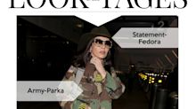 Look des Tages: Catherine Zeta-Jones in Khaki und Gold