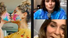 """Sasha Meneghel surpreende em live do namorado: """"Projeto lindo"""""""