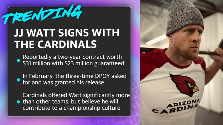 J.J. Watt signs with  the Cardinals