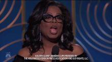 Oprah declares 'new day' for women in Golden Globes speech