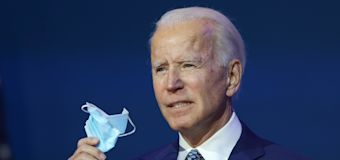 Biden says he will call for 100 days of mask wearing