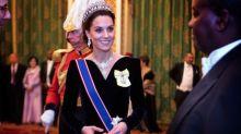 Kate Middleton stuns in velvet gown, Diana's tiara at royal event