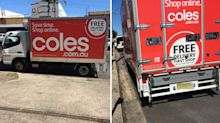 'Not happy': Coles delivery driver blasted for 'lazy' act