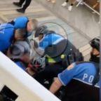 Police officers videoed Tasing and kneeling on Black teenagers for vaping