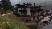 Bomba d'acqua a Cortina, strade come fiumi: la situazione