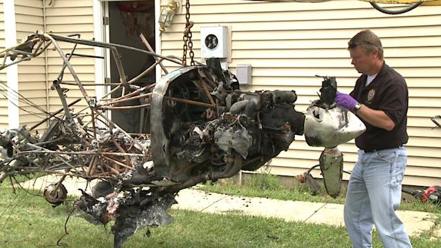 Homemade Plane Crashes Into House, Remains Removed