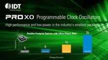 IDT Launches ProXO Family of Programmable Low Jitter Clock Oscillators for Datacenter and Networking Applications