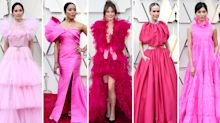 Larger-than-life pink dresses dominated the Oscars 2019 red carpet