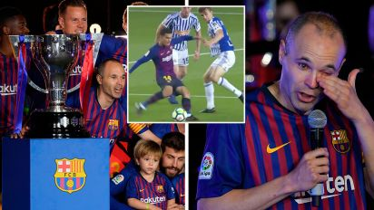 Coutinho cracker sees Barca legend off in style