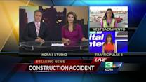 2 construction workers injured by falling metal in West Sacramento